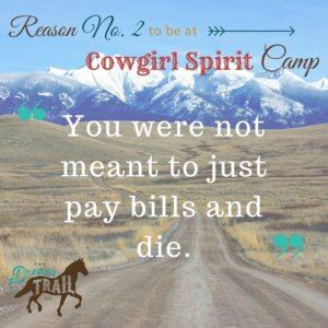 cowgirl spirit camp dream trail